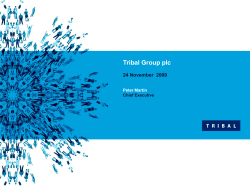  Insert text Tribal Group plc Second level