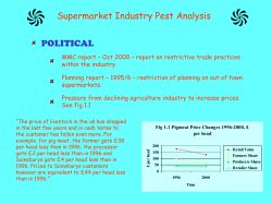 Supermarket Industry Pest Analysis POLITICAL