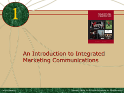 1 An Introduction to Integrated Marketing Communications