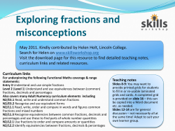 Exploring fractions and misconceptions