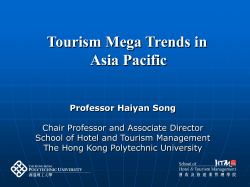 Tourism Mega Trends in Asia Pacific