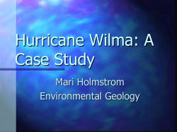 Hurricane Wilma: A Case Study Mari Holmstrom Environmental Geology