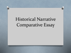 Historical Narrative Comparative Essay