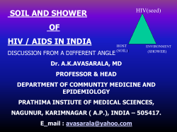 SOIL AND SHOWER OF HIV / AIDS IN INDIA