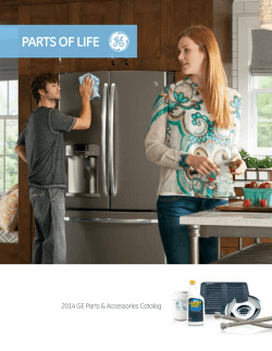 PARTS OF LIFE 2014 GE parts & accessories Catalog
