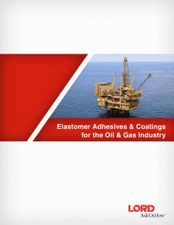 Elastomer Adhesives & Coatings for the Oil & Gas Industry