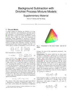 Background Subtraction with Dirichlet Process Mixture Models Supplementary Material 1