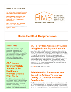 October 30, 2014 - In This Issue: Using Medicare Payment Models