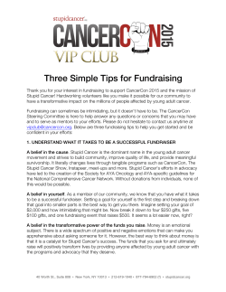 Three Simple Tips for Fundraising