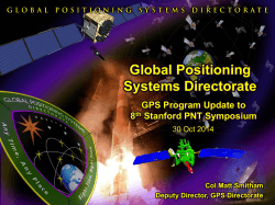 Space and Missile Systems Center Global Positioning Systems Directorate GPS Program Update to