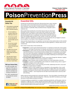 Essential Oils Essential Oil Safety Tips Poison Center Hotline