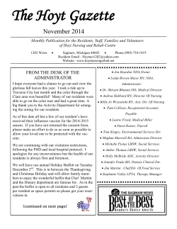 The Hoyt Gazette November 2014