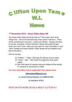 – Great Clifton Bake Off 1 November 2014