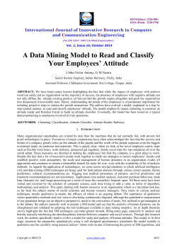 A Data Mining Model to Read and Classify Your Employees' Attitude  I