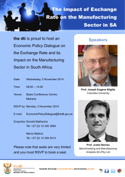 The Impact of Exchange Rate on the Manufacturing Sector in SA Speakers