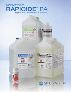 RAPICIDE PA  High-Level Disinfectant & Sterilant