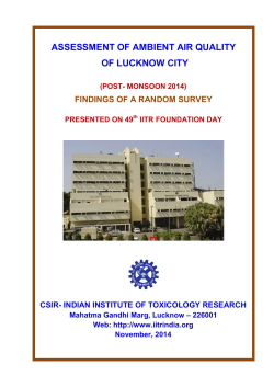 ASSESSMENT OF AMBIENT AIR QUALITY OF LUCKNOW CITY