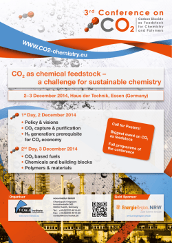 3 CO as chemical feedstock – a challenge for sustainable chemistry