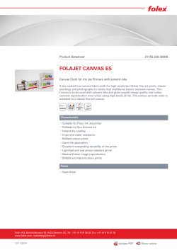 FOLAJET CANVAS ES Product Datasheet 21155.320.30300