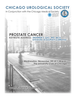 CHICAG UROLOGICAL SOCIETY O PROSTATE CANCER