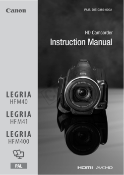 Y COP Instruction Manual HD Camcorder