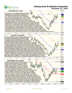 Closing Grain & Soybean Comments November 12 , 2014
