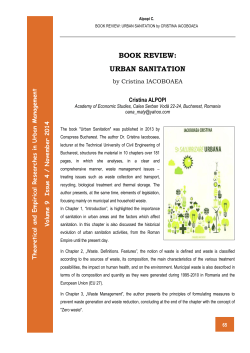 BOOK REVIEW: URBAN SANITATION t men