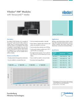Viledon HM Modules with Versacomb™ media