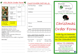 VEG BOX Order Form