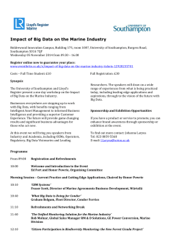 Impact of Big Data on the Marine Industry