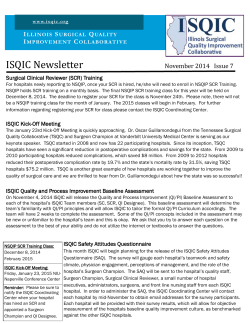 ISQIC Newsletter I S Q