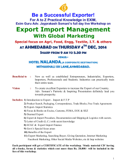 Export Import Management Be a Successful Exporter! With Global Marketing