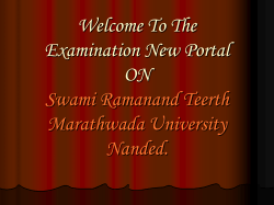 Welcome To The Examination New Portal ON