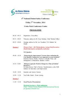 4 National Patient Safety Conference Friday 7