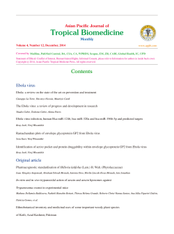 Tropical Biomedicine Asian Pacific Journal of
