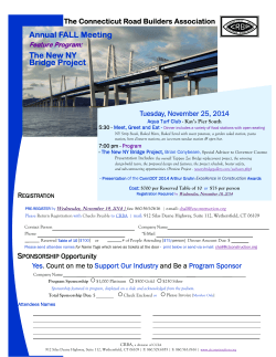 Annual FALL Meeting The New NY Bridge Project
