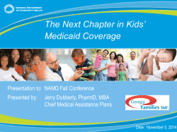 The Next Chapter in Kids' Medicaid Coverage