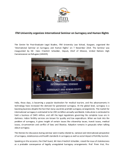 ITM University organizes International Seminar on Surrogacy and Human Rights