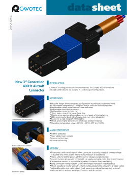 New 3 Generation 400Hz Aircraft Connector