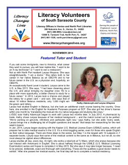 Literacy Volunteers of South Sarasota County Literacy Changes