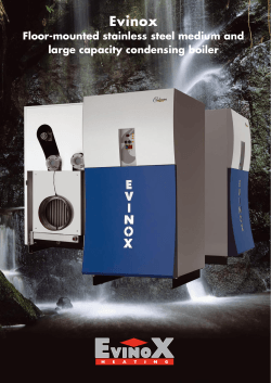Evinox Floor-mounted stainless steel medium and large capacity condensing boiler