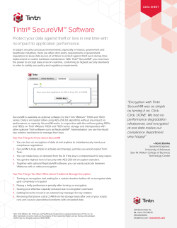 Tintri® SecureVM™ Software no impact to application performance