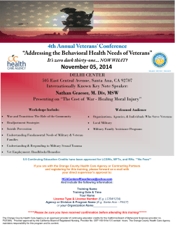 November 05, 2014 4th Annual Veterans' Conference
