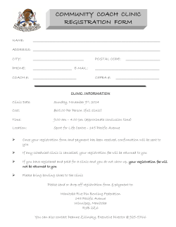 COMMUNITY  COACH  CLINIC REGISTRATION  FORM