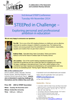 STEEPed in Challenge - Exploring personal and professional ambition in education