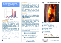 Emulsified H.F.O Combustion produces almost 30% less NOx
