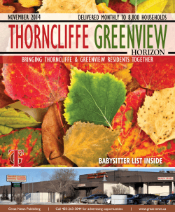 THORNCLIFFE  GREENVIEW HORIZON