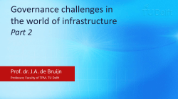 Governance challenges in the world of infrastructure Part 2