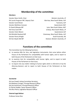Membership of the committee