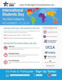 International Students Day NOVEMEER 19, 2014 NOVEMBER 19, 2014